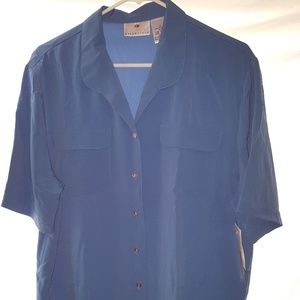 Blue Worthington Essentials  button down shirt